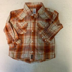 Western pearl snap button down